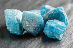 Blauwe apatite Stock Afbeeldingen
