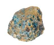 Blauwe apatite steen Stock Foto's