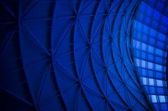 Blauwe Architecturale Samenvatting Stock Foto