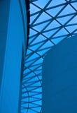 Blauwe Architectuur Stock Foto