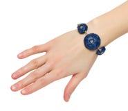 Blauwe armband Royalty-vrije Stock Afbeeldingen