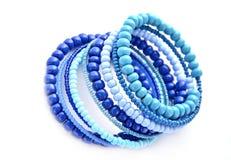 Blauwe armband Royalty-vrije Stock Foto's