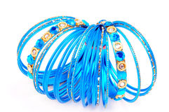 Blauwe armbanden stock afbeelding