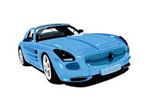 Blauwe artistieke Auto Royalty-vrije Stock Fotografie