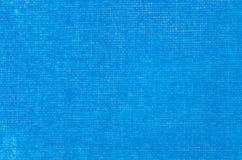 Blauwe artistieke canvas geschilderde achtergrond Royalty-vrije Stock Fotografie
