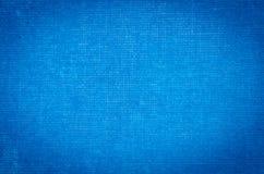 Blauwe artistieke canvas geschilderde achtergrond Stock Afbeeldingen