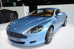 Blauwe Aston Martin DB9 Royalty-vrije Stock Afbeeldingen