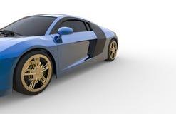 Blauwe Auto Royalty-vrije Stock Foto's
