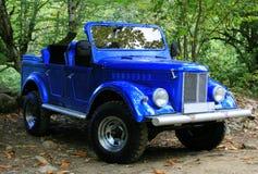 Blauwe auto Stock Foto's