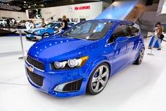 Blauwe auto Chevrolet Stock Afbeelding