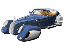 Blauwe auto van de toekomst Stock Afbeelding