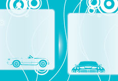 Blauwe autoachtergrond Stock Afbeelding