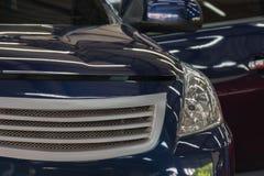 Blauwe autowas Stock Afbeeldingen