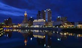 Blauwe avond in Columbus Royalty-vrije Stock Foto's