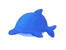 Blauwe babydolfijn Stock Foto