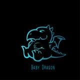 Blauwe Babydraak Stock Afbeelding
