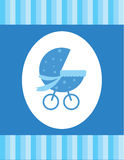 Blauwe babykaart Royalty-vrije Stock Afbeeldingen