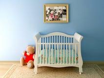 Blauwe babyruimte Stock Foto's