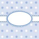 Blauwe babysachtergrond met frame vector illustratie