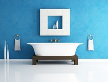Blauwe badkamers Stock Fotografie
