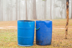 Blauwe bakken in parken Royalty-vrije Stock Afbeelding