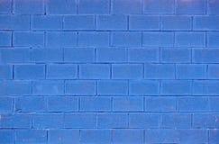 Blauwe baksteenachtergrond Stock Afbeeldingen