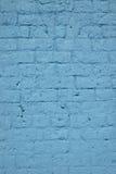 Blauwe Bakstenen muur Royalty-vrije Stock Foto's