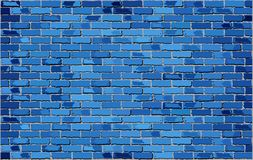 Blauwe bakstenen muur Stock Fotografie