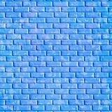 Blauwe bakstenen muur, achtergrond Stock Afbeelding