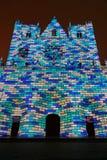 Blauwe bakstenen op Kathedraal heilige-Jean Stock Afbeeldingen
