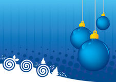 Blauwe ballen abstracte achtergrond Stock Fotografie