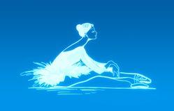 Blauwe balletdanser vector illustratie