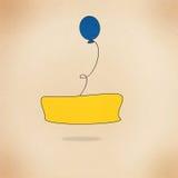 Blauwe ballon Stock Afbeelding