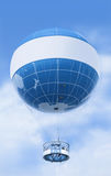 Blauwe ballon Stock Foto's