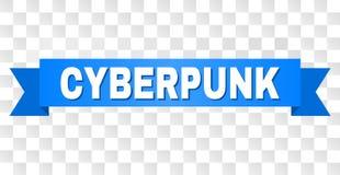 Blauwe Band met CYBERPUNK-Tekst stock illustratie