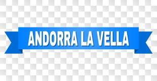 Blauwe Band met de Titel van La VELLA van ANDORRA vector illustratie