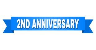 Blauwe Band met 2ND VERJAARDAGStitel royalty-vrije illustratie