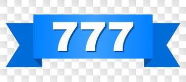 Blauwe Band met Titel 777 stock illustratie