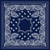 Blauwe Bandana Royalty-vrije Stock Afbeeldingen