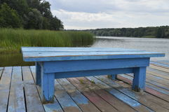 Blauwe bank Stock Afbeelding