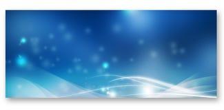 Blauwe banner royalty-vrije stock afbeeldingen