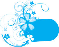 Blauwe banner Stock Foto