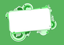 Blauwe banner met cirkels Stock Fotografie