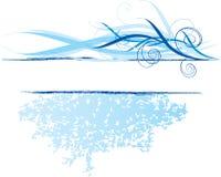 Blauwe banner, ontwerpelement Stock Afbeeldingen