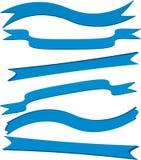 Blauwe banners Stock Afbeelding