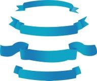 Blauwe banners Stock Afbeeldingen