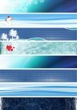 Blauwe banners Stock Foto
