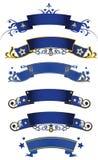 Blauwe banners Royalty-vrije Stock Afbeelding