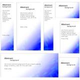 Blauwe banners Stock Foto's