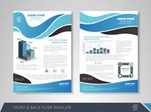 Blauwe bedrijfsbrochure Royalty-vrije Stock Afbeeldingen
